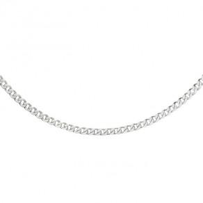 Stříbrný řetízek CURB plochý Ø0,8 50cm