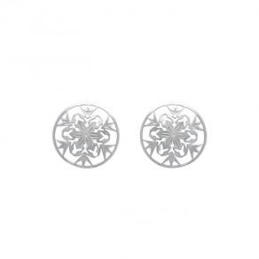 Stříbrné náušnice NA0629 ornamenty