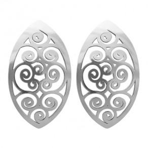 Stříbrné náušnice NA0637 Magic orient - spiral