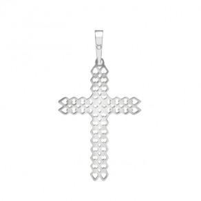 Stříbrný velký přívěsek PA1525 křížek