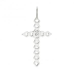 Stříbrný malý přívěsek PA1545 křížek