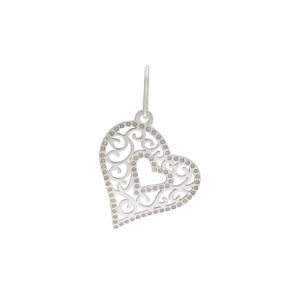 Stříbrný malý přívěsek PA1193m srdce